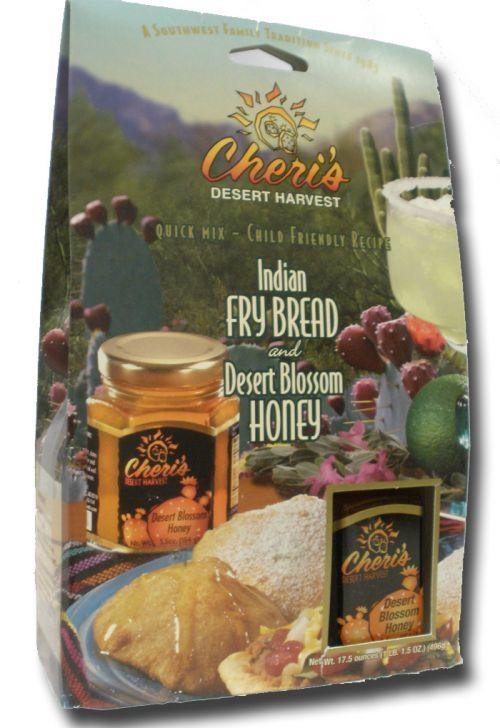 indian fry bread  u0026 desert blossom honey - food