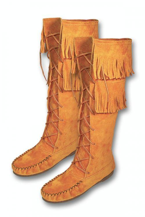 Ladies Tall Boot Moosehide Moccasins Southwest Indian