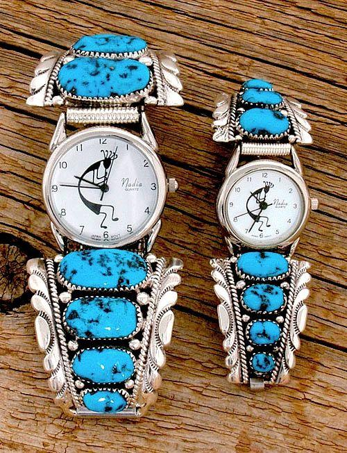 Mens Chunky Turquoise Watch Watches Jewlery 4237