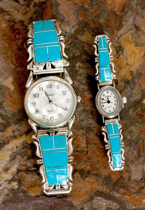 Men Foot S Turquoise Inlay Watch Watches Jewlery