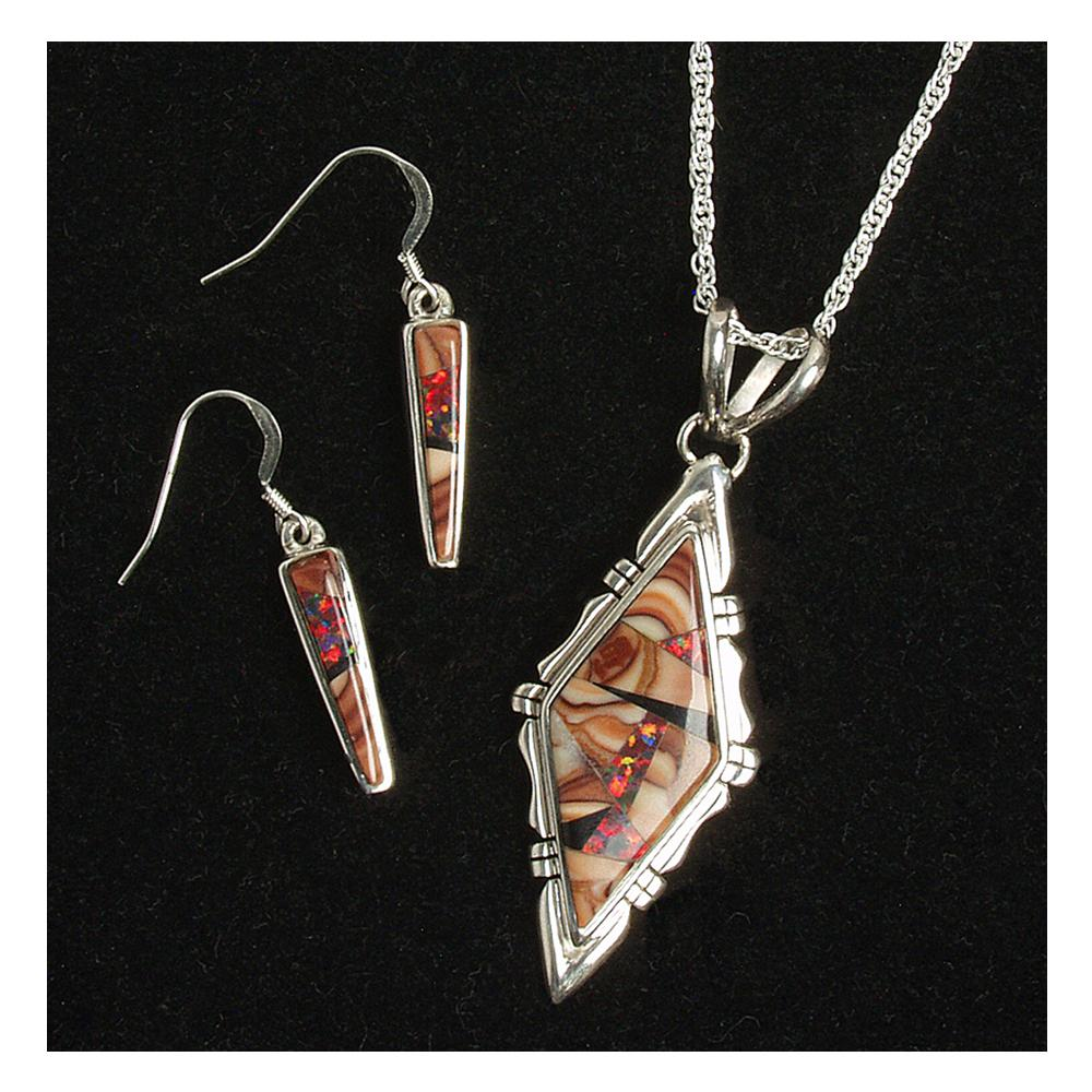 Sunset canyon earring pendant set southwest indian for Sunset pawn and jewelry
