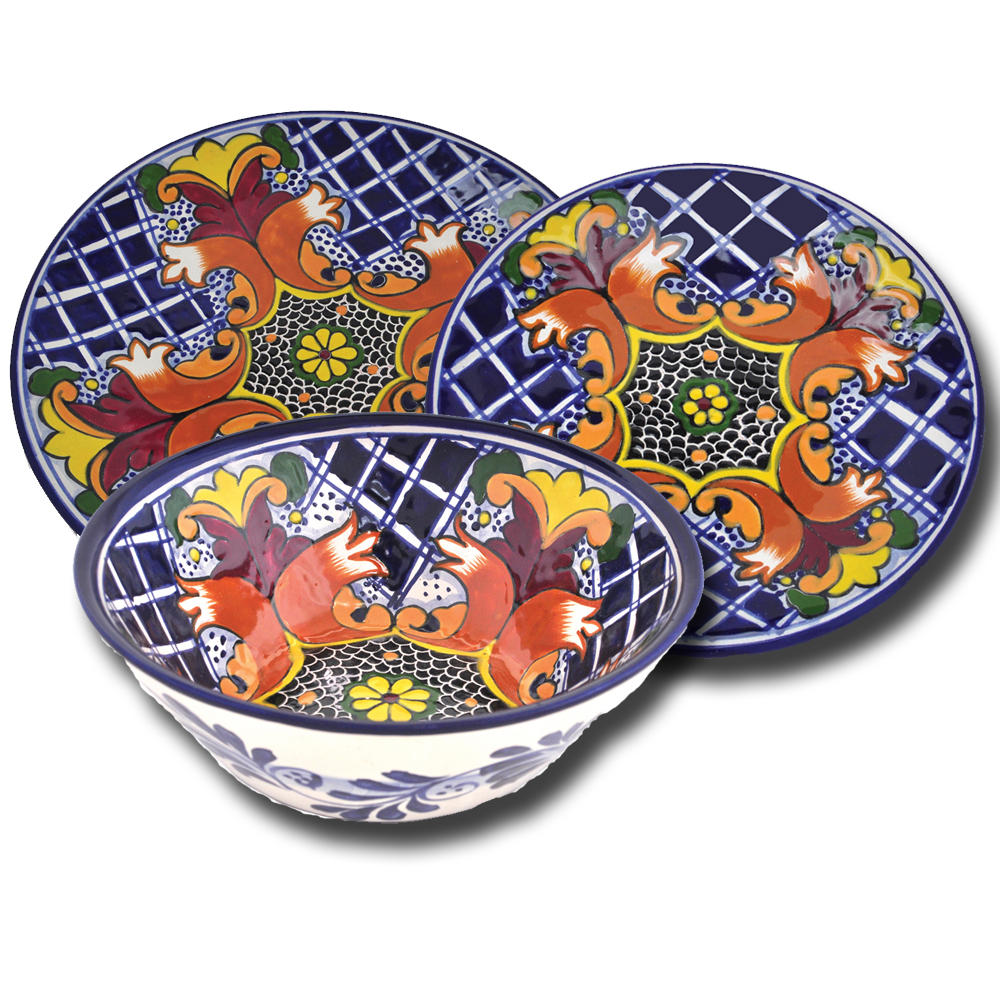 Talavera Earthenware Dinnerware Set - Southwest Indian Foundation ...