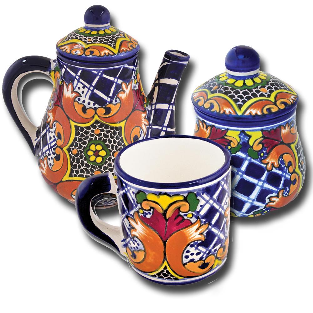 Talavera Earthenware Tea Set - Southwest Indian Foundation - 1880C