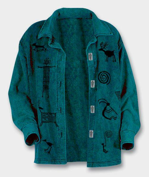 Teal Petroglyph Jacket Jackets Fashion