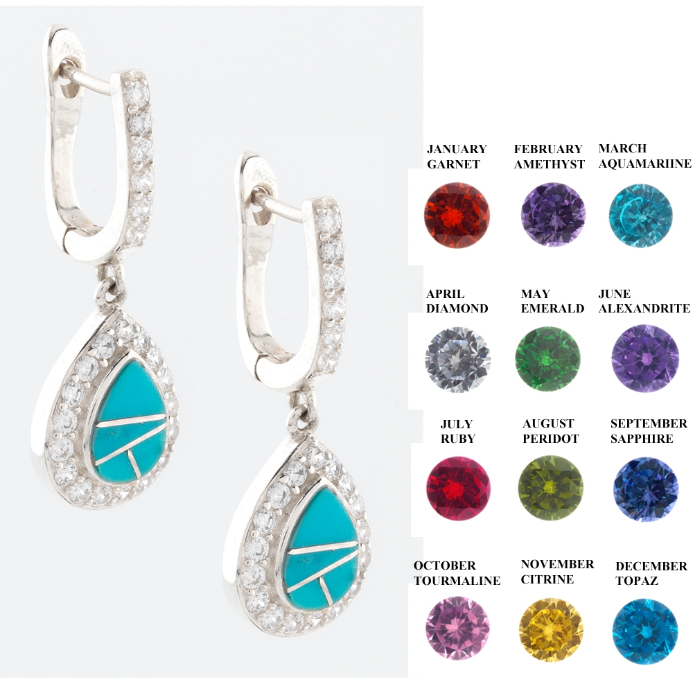 topaz earrings blue silver online buy birthstone december