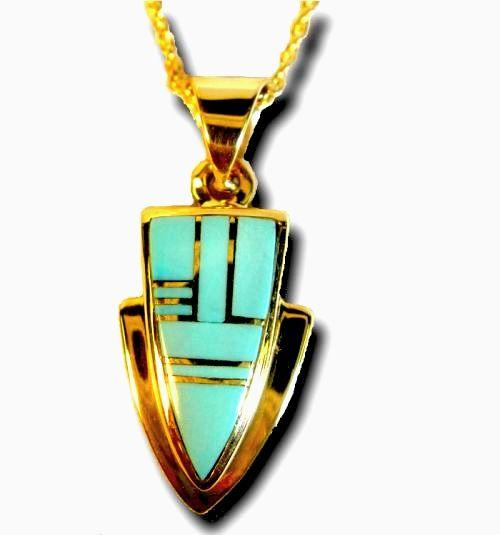 tom artist inlay by chaco trading pendant made canyon co clayton navajo