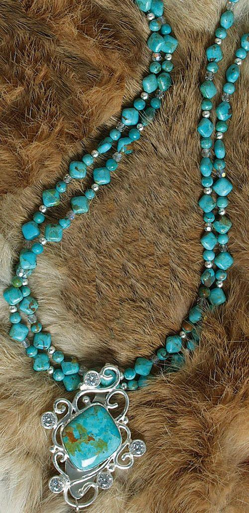 Chilean Turquoise Necklace Amp Pendant Set Southwest
