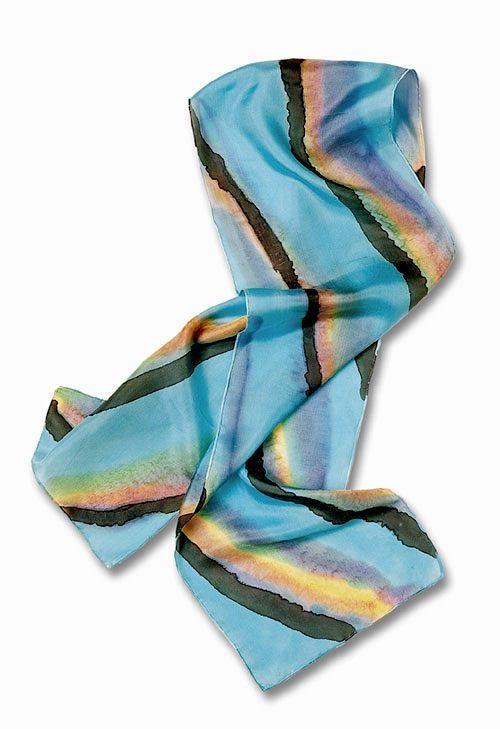 Desert Abstract Silk Scarf