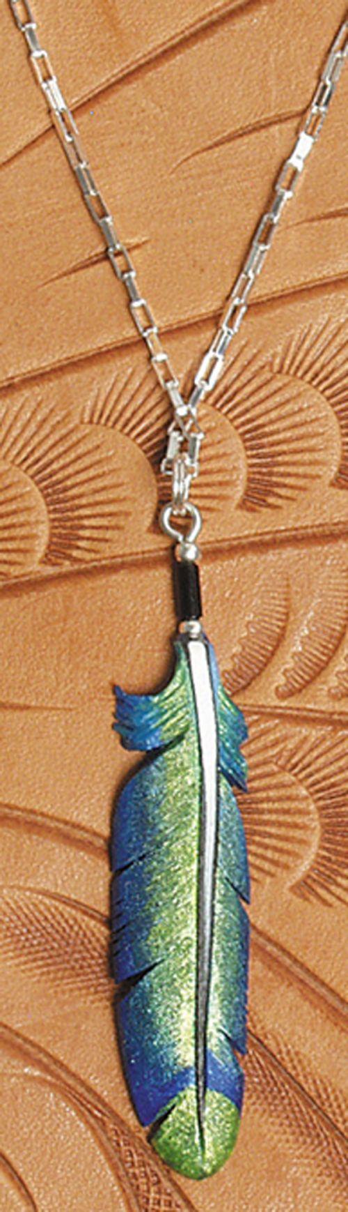 hummingbird feather pendant