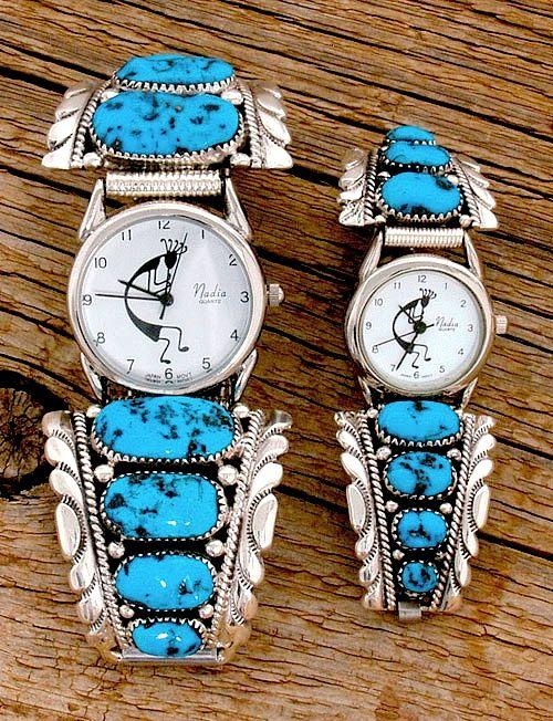 Ladies Chunky Turquoise Watch Watches Jewlery