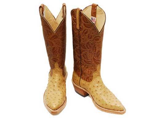 Ladies Leather Tooled Boots