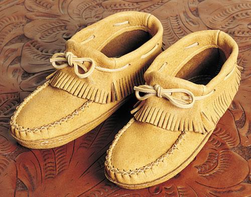 2a9c92b0ae9d8 Ladies Moosehide Fringe Moccasins - Footwear - Fashion