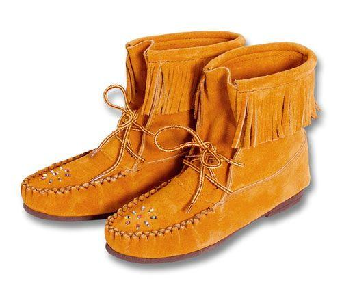Ladies Suede Boot Moccasins