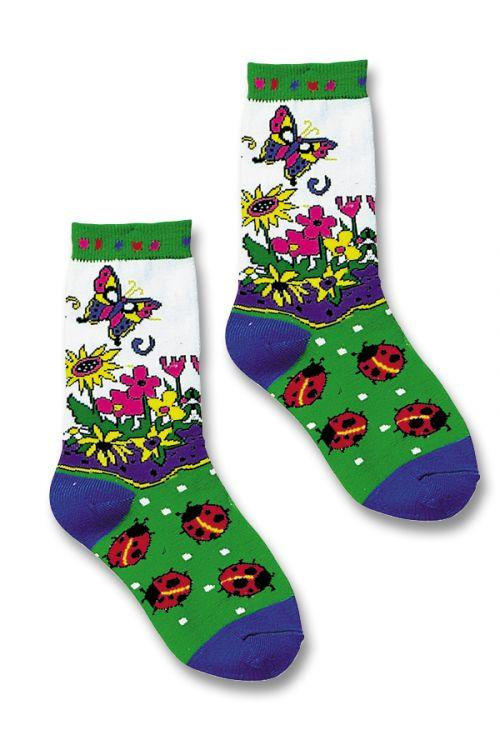 julie white coral garden socks stance garden punk girls
