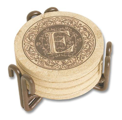 Monogram Sandstone Coasters Ceramics For The Home