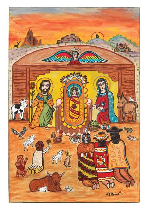 Nativity Greeting Cards Southwest Indian Foundation 1795c