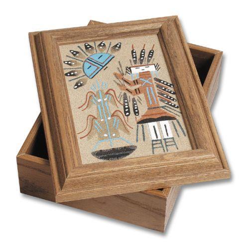 Navajo Sand Painting Keepsake Box Southwest Indian Foundation