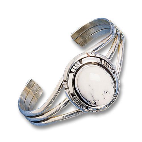 Oval White Buffalo Bracelet