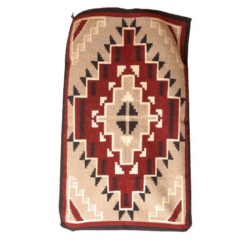 Traditional, hand-woven Navajo blanket.
