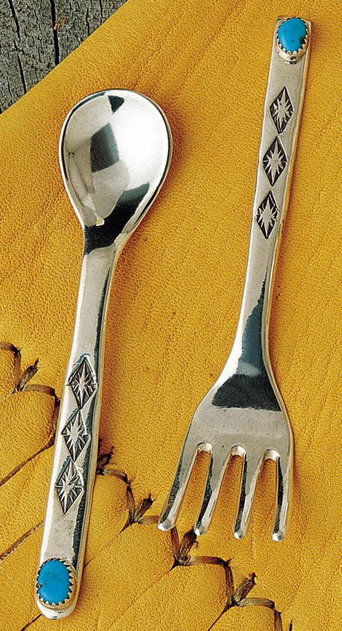 Sterling Silver Spoon Amp Fork Set Miscellaneous Jewlery