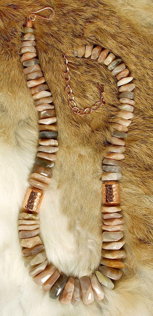Sunstone & Copper Necklace