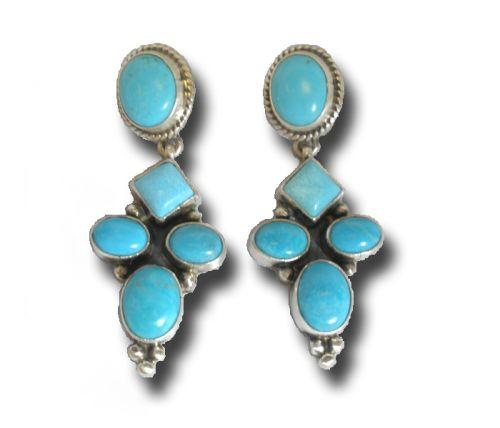Traditional Navajo Cross Earrings