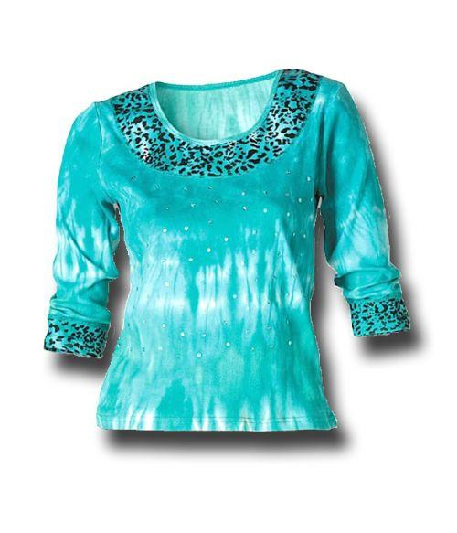 Turquoise Aztec Knit Top Southwest Indian Foundation