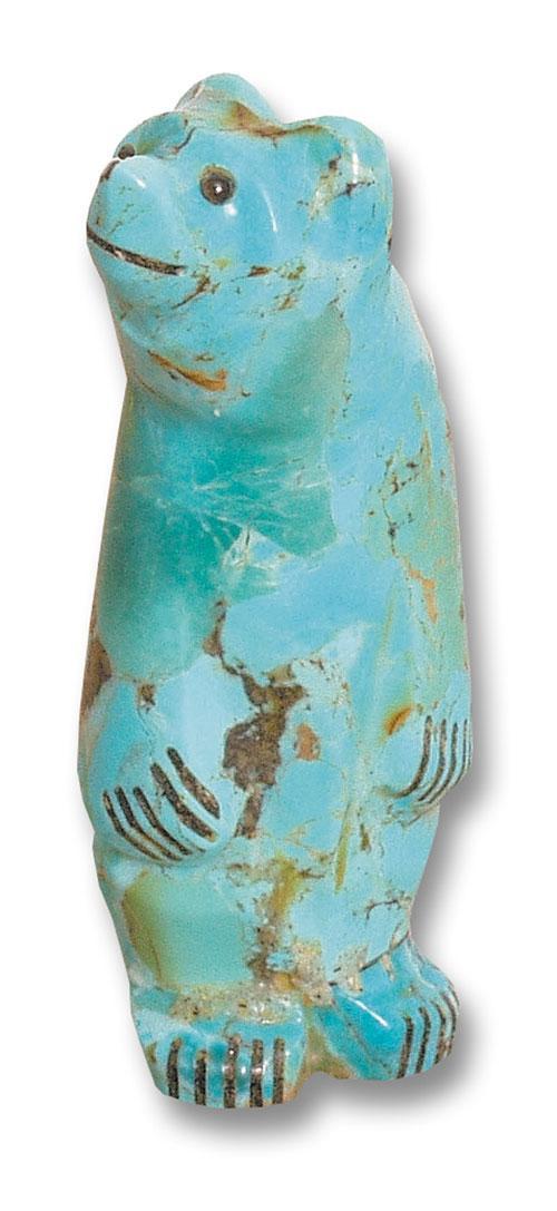 Turquoise Bear Fetishes Native Arts
