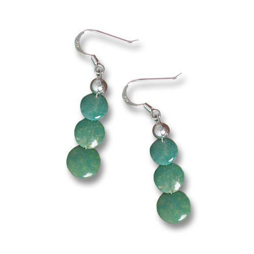 Turquoise Disc Earrings