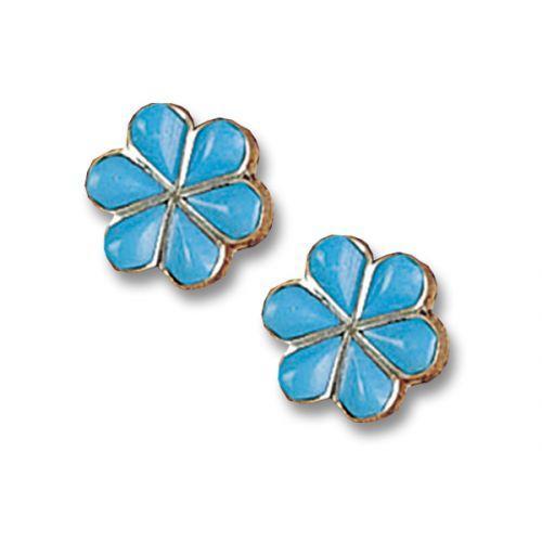 Turquoise Flower Earrings Jewlery