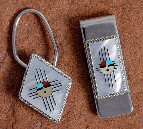 Zuni Sunface Key Ring & Money Clip - Miscellaneous - Jewelry