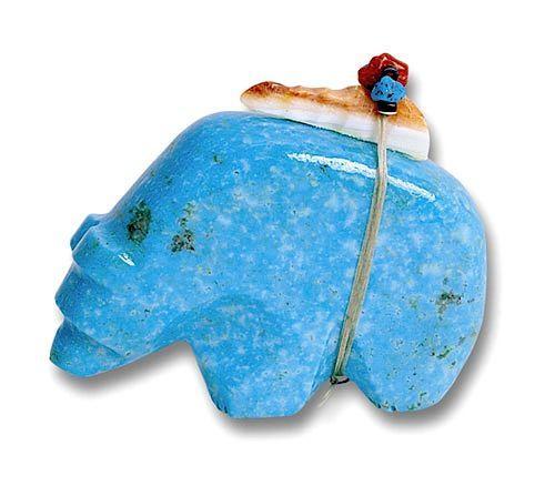 Zuni Turquoise Bear Fetish